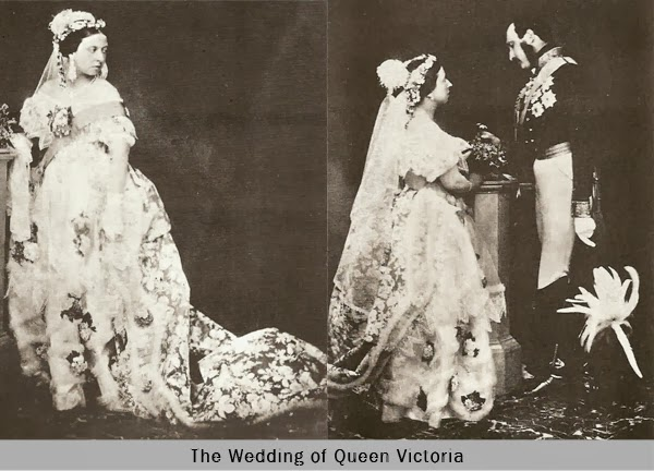 White Wedding Dress wore by the Queen Victoria in her wedding day