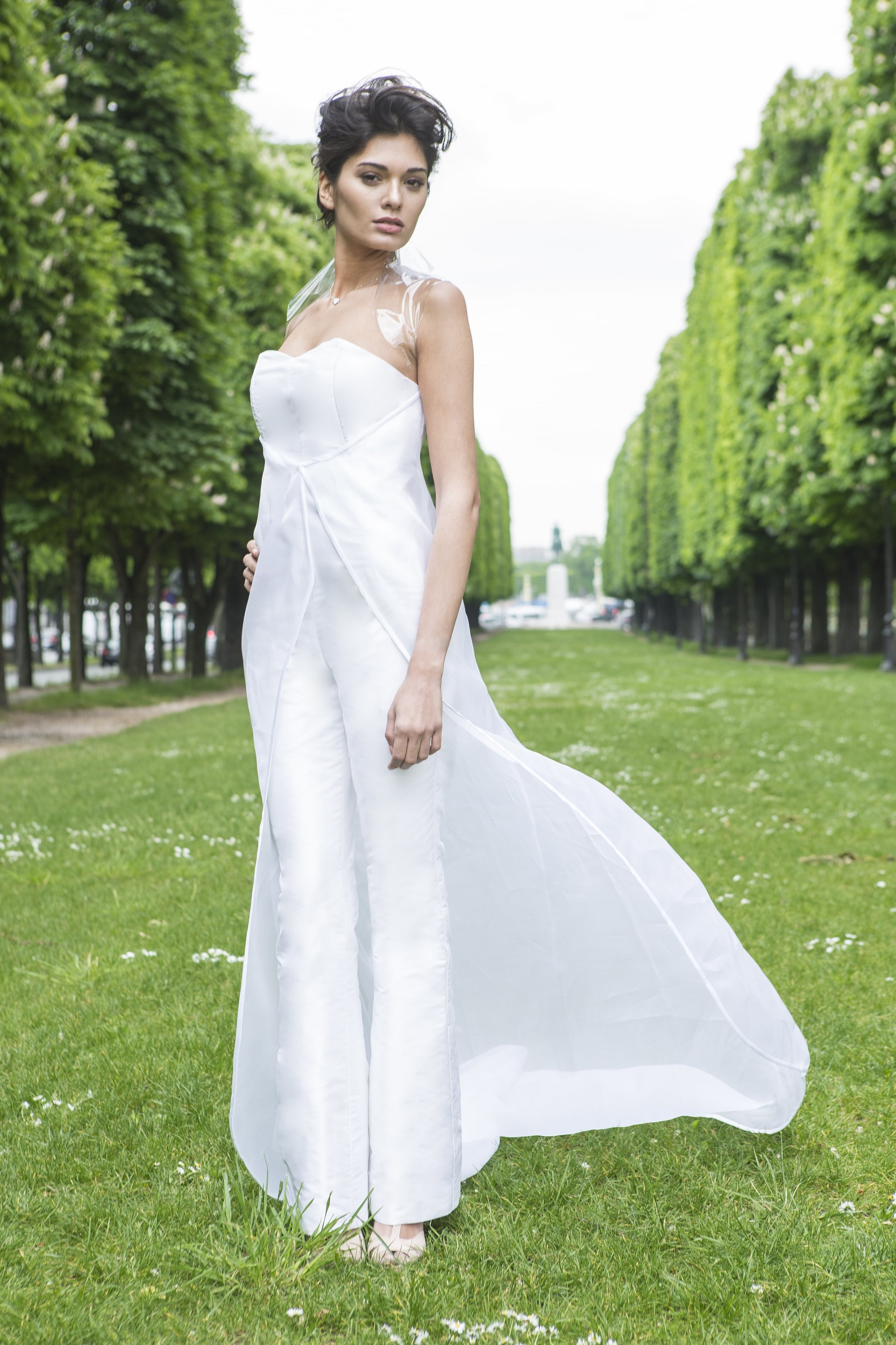 Custom-made Jumpsuit Wedding Dress by Laureen Couture